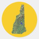 New Hampshire Map Sticker