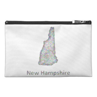 New Hampshire map Travel Accessories Bag