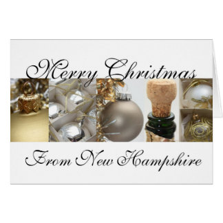 New Hampshire Merry Christmas Collage Card