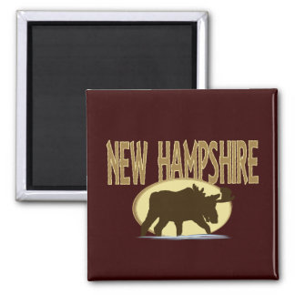 New Hampshire Moose Magnet