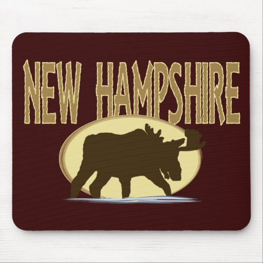 New Hampshire Moose Mouse Pad