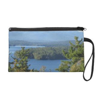 New Hampshire Mountain Lake Wristlet Clutch