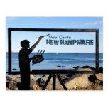 New Hampshire, New Castle Great Island Sculpture Postcard
