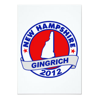 New Hampshire Newt Gingrich Card