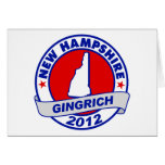 New Hampshire Newt Gingrich Cards