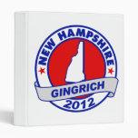 New Hampshire Newt Gingrich Vinyl Binder