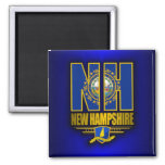 New Hampshire (NH) 2 Inch Square Magnet