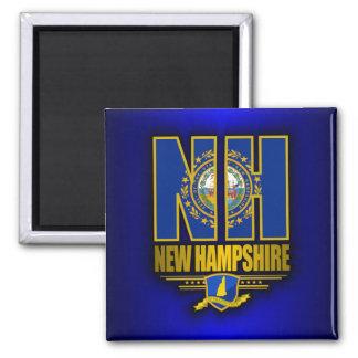New Hampshire (NH) Imán Cuadrado