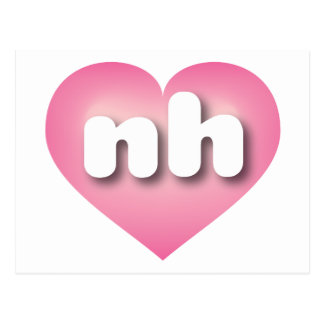 New Hampshire nh pink fade heart Postcards