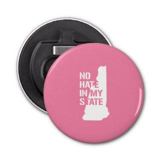 New Hampshire: Ningún odio en mi estado Abrebotellas Redondo