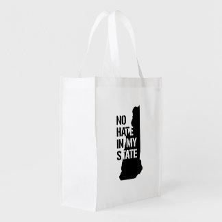 New Hampshire: Ningún odio en mi estado Bolsas Reutilizables
