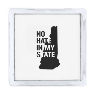 New Hampshire: Ningún odio en mi estado Pins Plateados