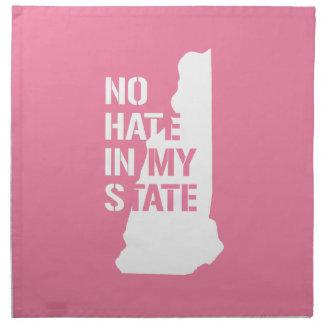 New Hampshire: Ningún odio en mi estado Servilletas