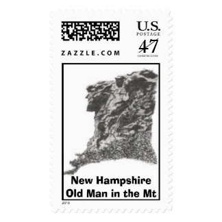New Hampshire- Old Man in the Mt -Pen Sketch / Sta Postage