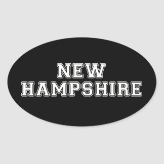 New Hampshire Oval Sticker