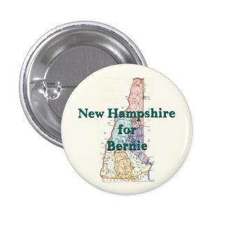 New Hampshire para Bernie 2016 Pin Redondo De 1 Pulgada