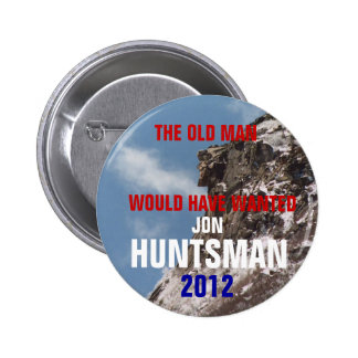 New Hampshire para el botón del Huntsman 2012 de J Pin Redondo De 2 Pulgadas