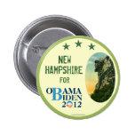 New Hampshire para el viejo hombre de OBAMA BIDEN  Pins