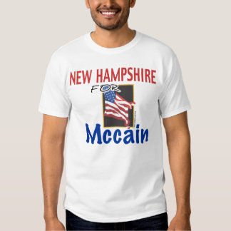 New Hampshire para la camiseta de Mccain Playera