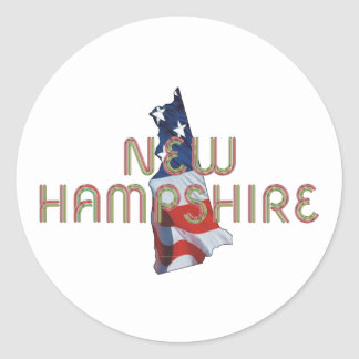 New Hampshire Patriot Classic Round Sticker