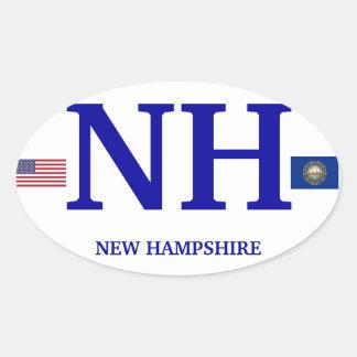 New Hampshire * pegatina oval europeo