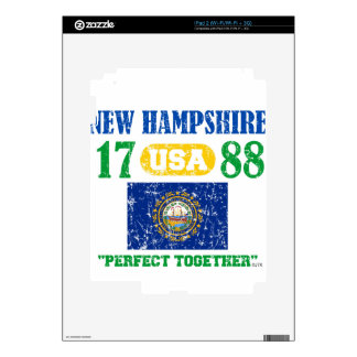 NEW HAMPSHIRE PERFECT TOGETHER DISTRESSED PRODUCTS DECALS FOR THE iPad 2