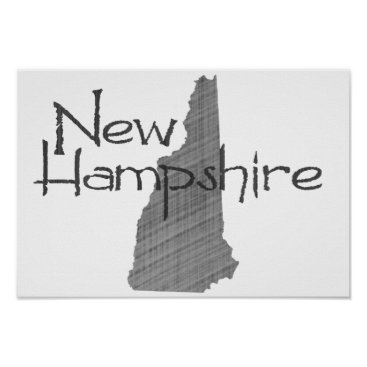 USA Themed New Hampshire Poster