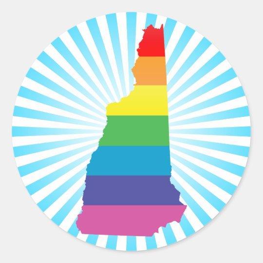 new hampshire pride. classic round sticker