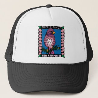 New Hampshire Purple Finch Trucker Hat