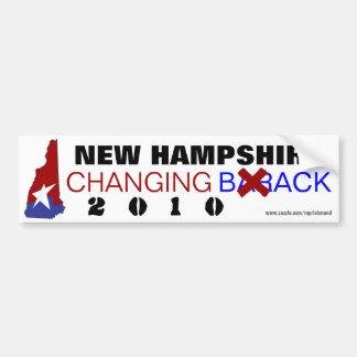 New Hampshire que cambia detrás 2010 Pegatina Para Auto