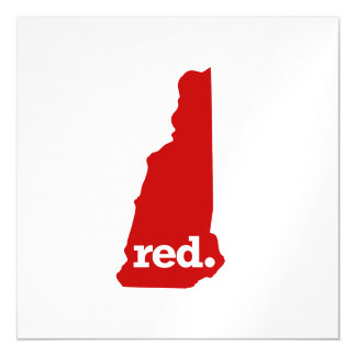 NEW HAMPSHIRE RED STATE MAGNETIC CARD