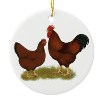 New Hampshire Reds Ceramic Ornament