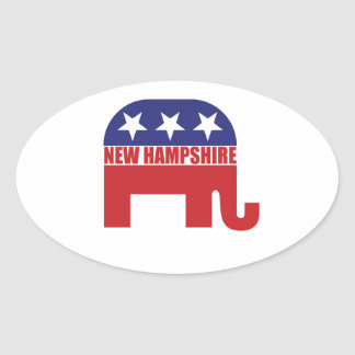 New Hampshire Republican Elephant Sticker