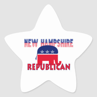 New Hampshire Republican Star Sticker