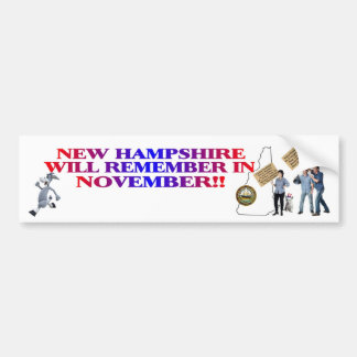 New Hampshire - Return Congress To The People!! Bumper Sticker