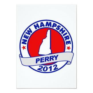 """New Hampshire Rick Perry Invitación 5"""" X 7"""""""