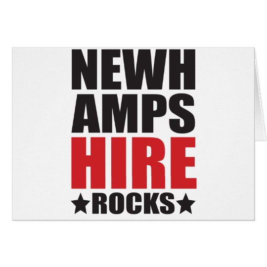 New Hampshire Rocks! State Spirit Gifts and Appare Card