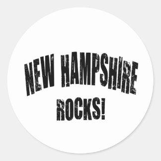 New Hampshire Rocks! Round Stickers
