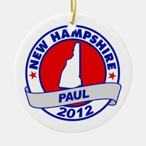 New Hampshire Ron Paul Adornos De Navidad
