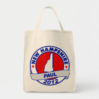 New Hampshire Ron Paul Tote Bags