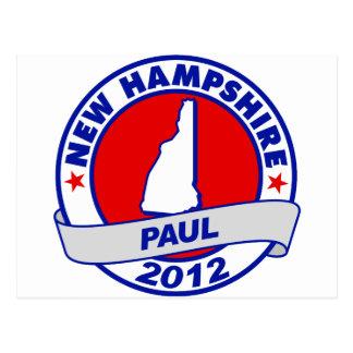 New Hampshire Ron Paul Tarjeta Postal