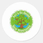 new hampshire round stickers