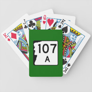 New Hampshire Route 107A Bicycle Playing Cards