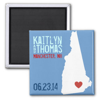 New Hampshire Save the Date - Customizable City Magnet