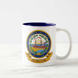 New Hampshire Seal Two-Tone Coffee Mug