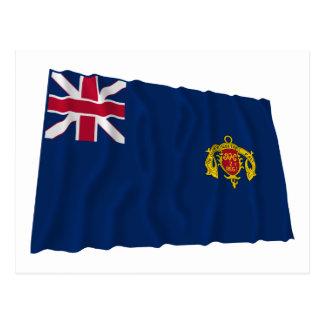 New Hampshire Second Regiment Waving Flag Postcard