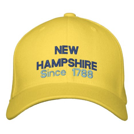 New Hampshire Since 1788 Embroidered Baseball Cap