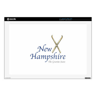 """New Hampshire Decal For 17"""" Laptop"""