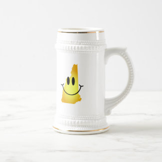 New Hampshire Smiley Face 18 Oz Beer Stein