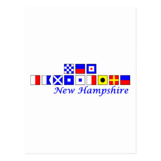 New Hampshire spelled in nautical flag alphabet Postcard